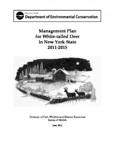Management Plan for White-tailed Deer in New York State