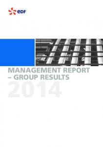 MANAGEMENT REPORT GROUP RESULTS