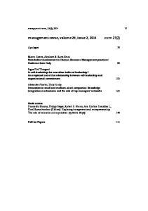 management revue, volume 25, issue 2, 2014 mrev 25(2)