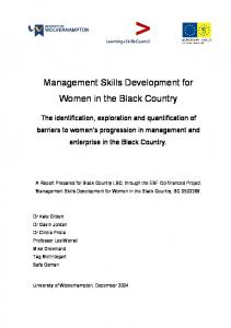 Management Skills Development for Women in the Black Country