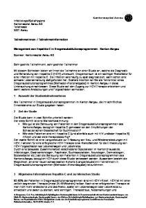 Management von Hepatitis C in Drogensubstitutionsprogrammen - Kanton Aargau