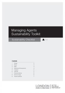 Managing Agents Sustainability Toolkit