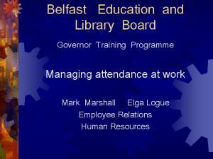 Managing attendance at work