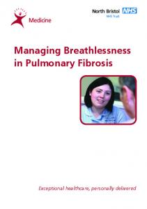 Managing Breathlessness in Pulmonary Fibrosis