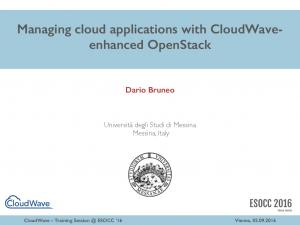 Managing cloud applications with CloudWaveenhanced