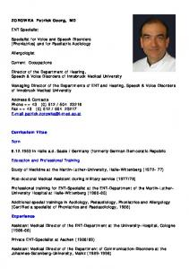 Managing Director of the Departments of ENT and Hearing, Speech & Voice Disorders of Innsbruck Medical University