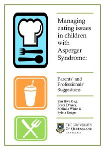 Managing eating issues in children with Asperger Syndrome: