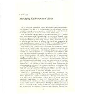 Managing Environmental Risks