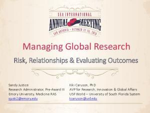 Managing Global Research