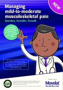 Managing mild-to-moderate musculoskeletal pain Question, Consider, Consult