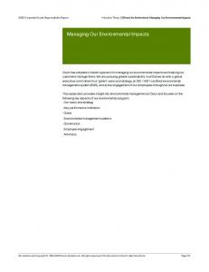 Managing Our Environmental Impacts