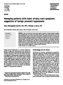 Managing patients with lower urinary tract symptoms suggestive of benign prostatic hyperplasia