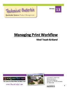 Managing Print Workflow
