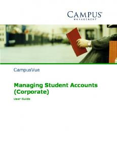Managing Student Accounts (Corporate) User Guide