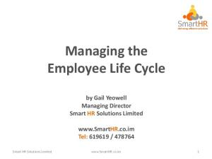 Managing the Employee Life Cycle