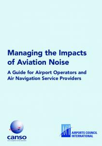 Managing the Impacts of Aviation Noise A Guide for Airport Operators and Air Navigation Service Providers