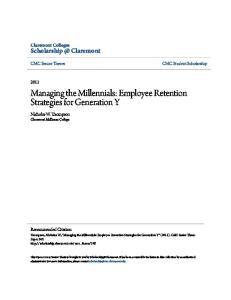 Managing the Millennials: Employee Retention Strategies for Generation Y
