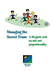 Managing the Soccer Team: