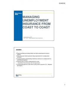 MANAGING UNEMPLOYMENT INSURANCE FROM COAST TO COAST