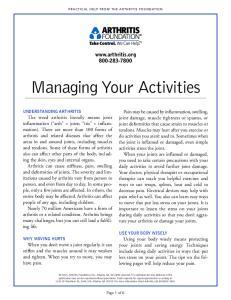 Managing Your Activities