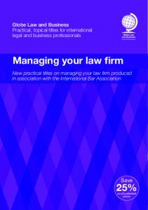 Managing your law firm