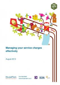 Managing your service charges effectively
