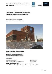 Manchester Metropolitan University Carbon Management Programme