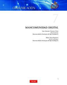 MANCOMUNIDAD DIGITAL. Jose Antonio Navarro Ortiz Director-Gerente Mancomunidad de Municipios del Bajo Guadalquivir