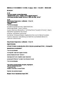 MANDALA PERFORMANCE FESTIVAL X edycja