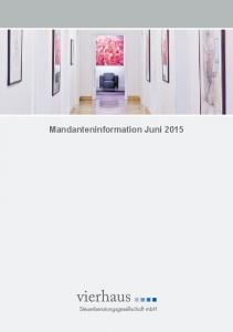 Mandanteninformation Juni 2015