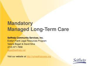 Mandatory Managed Long-Term Care
