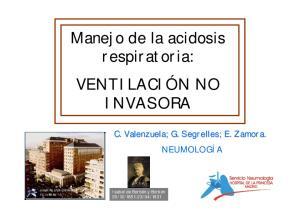 Manejo de la acidosis respiratoria: VENTILACIÓN NO INVASORA