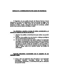 MANEJO DE LA MENINGOENCEFALITIS AGUDA EN URGENCIAS: