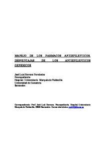 MANEJO DE LOS FARMACOS ANTIEPILEPTICOS. DESVENTAJAS DE LOS ANTIEPILEPTICOS GENERICOS