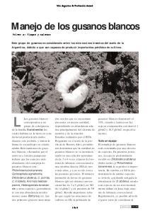 Manejo de los gusanos blancos