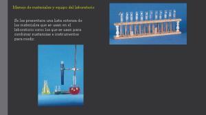 Manejo de materiales y equipo del laboratorio