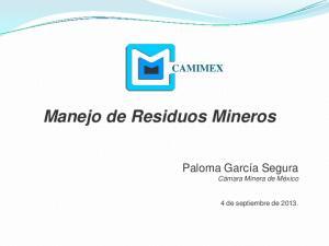 Manejo de Residuos Mineros