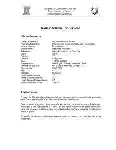 MANEJO INTEGRAL DE CUENCAS