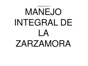 MANEJO INTEGRAL DE LA ZARZAMORA