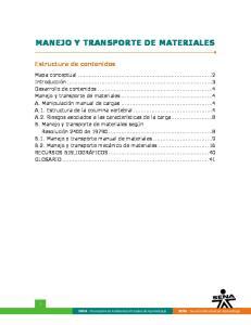 MANEJO Y TRANSPORTE DE MATERIALES