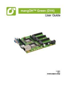 mangoh Green (DV4) User Guide