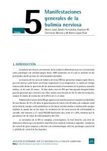 Manifestaciones generales de la bulimia nerviosa