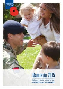Manifesto Building a better future for our Armed Forces community