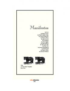 Manifestos. ubuclassics
