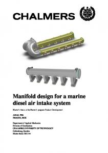 Manifold design for a marine diesel air intake system