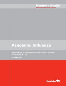 Manitoba Health. Preparing for Pandemic Influenza. Pandemic Influenza