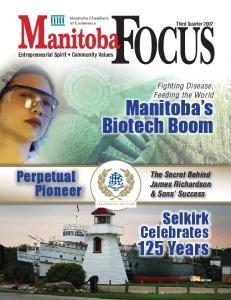 Manitoba s Biotech Boom