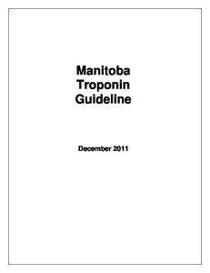 Manitoba Troponin Guideline