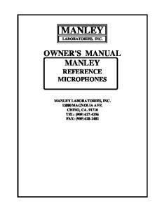 MANLEY LABORATORIES, INC