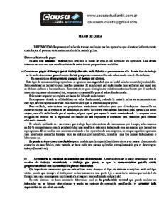 MANO DE OBRA DEFINICION: